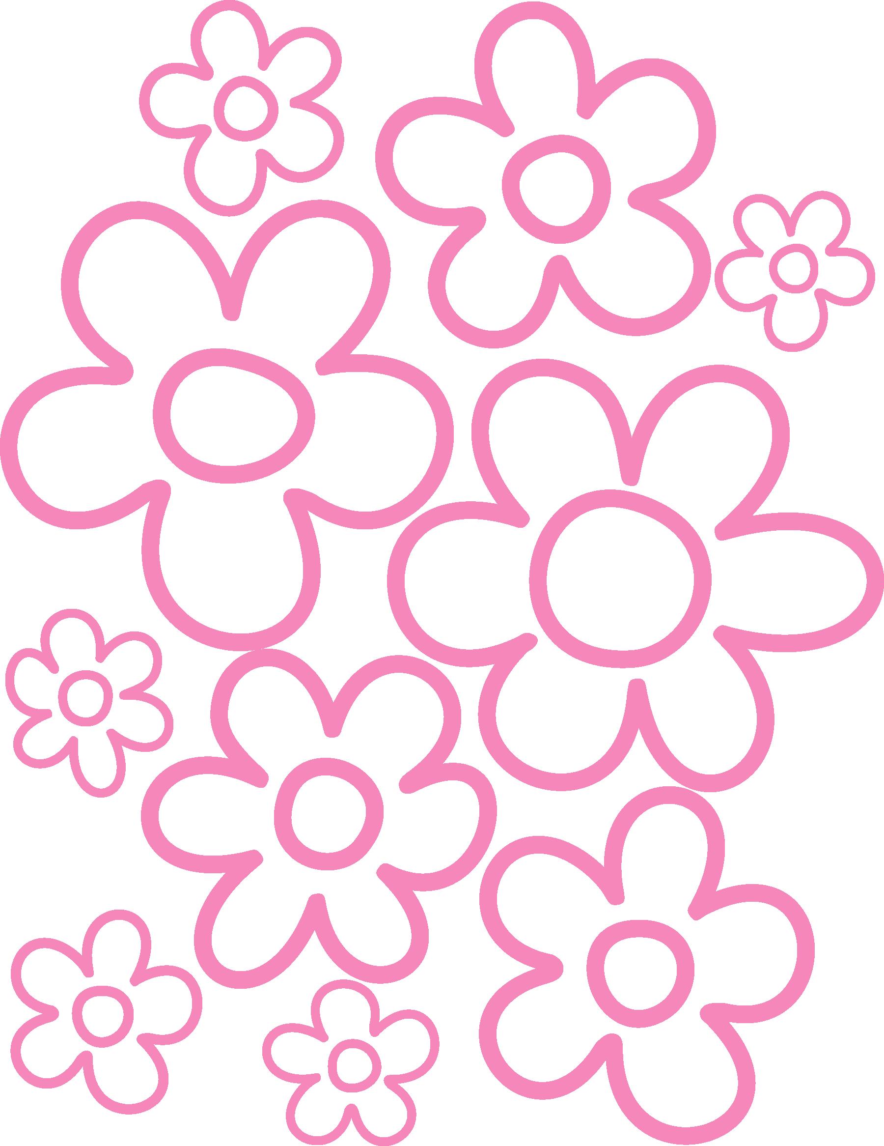 Dibujos de florecitas imagui - Dibujos de vinilo para paredes ...